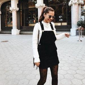 MADEWELL Denim Jumper Dress Washed Black {R38}